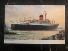 1955 England Picture Postcard cover To Maple Heights Ohio Usa Rms Ivernia Ship