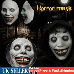 Halloween Creepy Face Cover Grinning Demon Headgear Mask Scary Horror Cosplay UK