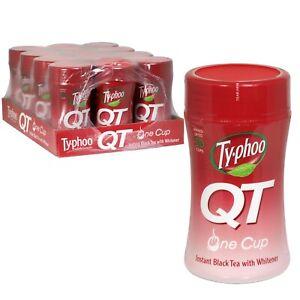 12 X Instant Black Tea Typhoo Qt 125g Jars