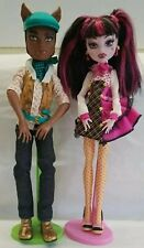 "💯♨️Monster High Clawd Wolf & Draculaura ""Forbitten Love"" Dolls w/ Stands⚡Fast📬"
