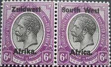 South West Africa 1923 GV 6d pair SG 21 mint