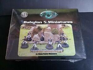 Babylon 5 Centauri Royal Guard - 8 x 28mm Pewter Miniatures - sealed in box
