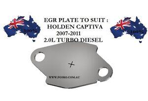 EGR PLATE FOR HOLDEN CAPTIVA 2007-2011 2.0L TURBO DIESEL, FOSKO PLATE F28