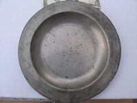 RARE Antique 1760 Early Colonial Pewter Plate, NICELY HALLMARKED Identified GIFT