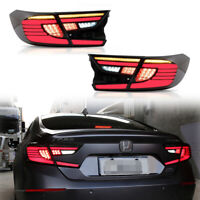 2x Smoked LED Tail Lights Rear Lamps For 18-19  Honda Accord w/Dynamic Indicator