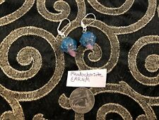 Orgonite 1x Pair of Earrings Rhodochrosite Orgone Energy Organite Chakra Wicca