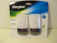 2 Pack Energizer LED Automatic On Off Sensor Home Bathroom Bedroom Night Light