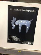 CHRISTMAS OUTDOOR REINDEER ANIMATED FEEDING FLASHING ROPE LIGHTS