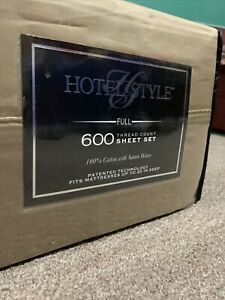 Hotel Style 600 Thread Count Full Sheets