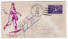 Baseball #855 FDC #66 U/O CCL 1939 Autographed Phil Regan, John Sain Pitchers
