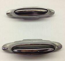 """Vintage Frigidaire General Motors Metal Appliance Handles Push Button  Chrome 5"""""""
