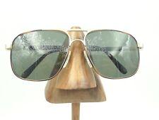 Vintage Hudson Z87-2 DG-60 Amber Gold Metal Square Aviator Sunglasses Frames
