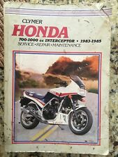 CLYMER MANUAL HONDA 700-1000CC INTERCEPTOR 83-85 Pre-owned M349 Paperback