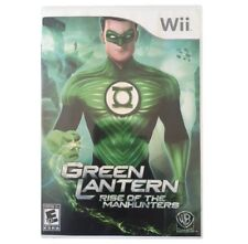 NEW FACTORY SEALED NINTENDO Wii GREEN LANTERN RISE OF THE MANHUNTERS
