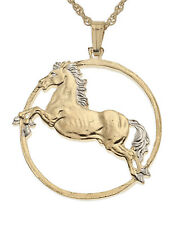"Horse Pendant , Hand Cut Year Of The Horse Coin, 1 1/4"" in Diameter, ( # 556 )"