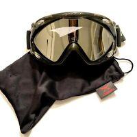 NEW $80 Carrera Mens Eclipse Lime Green winter snow ski Goggles Smith Gold Lens