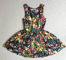ZARA Basic dress 6 8 XS Floral Fit and flare Tea dress Spring racing Pockets as