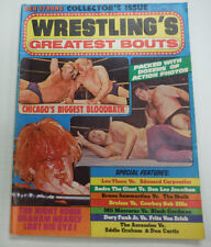 Wrestling's Greatest Bouts Magazine Bruno Sammartino & Thesz 1975 062615R2