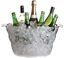 Barcraft Acrílico Grande Bebidas Balde Cerveza Vino Botella Refrigerador cubo de hielo 47 X 28 Cm
