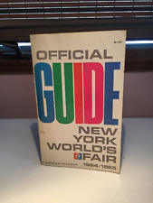 Rare Official 1964-1965 New York World's Fair Guide PLUS Authentic 5 Ticket Book