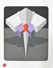"""MARKO SPALATIN SERIGRAPH """"HYDROID III"""" 1981 GEOMETRIC ABSTRACT LIMITED EDITION"""