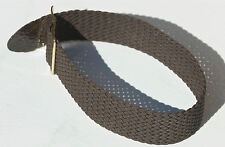 Brown braided nylon 20mm military watch band tropical type 1960s NOS
