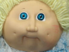 VINTAGE CABBAGE PATCH KIDS BLONDE BABY BOY DOLL BLUE DOLPHIN JUMPER OUTFIT PLUSH