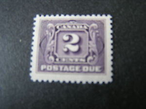 CANADA, SCOTT # J2 2c. VALUE VIOLET 1906-28 POSTAGE DUE ISSUE MH