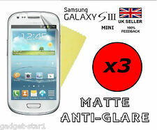 3x HQ MATTE ANTI GLARE SCREEN PROTECTOR COVER GUARD SAMSUNG GALAXY S3 MINI i8190
