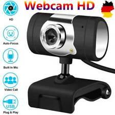 Webcam HD Video mit Mikrofon 30 fps Clip-on Kamera Camera Computer PC Laptop