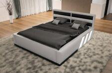 Designerbett APOLLONIA mit Beleuchtung Kunstlederbett  Luxus Bett Design Ehebett