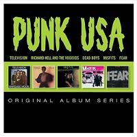 PUNK USA - ORIGINAL ALBUM SERIES 5 CD 55 TRACKS NEUF FEAR/MISFITS/DEAD BOYS/+