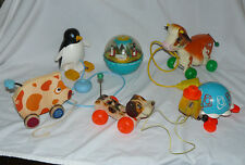 Vintage FP Toy Lot: Molly Moo Cow, Roly Poly, Little Snoopy, Tip Toe Turtle more