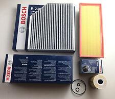 Bosch Filtro Olio, Aria Filtro carboni attivi AUDI A4 B8 A5 8T Q5 8R 2.0 TDI
