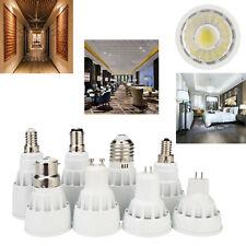 Dimmable LED Spotlight COB Bulb MR16 GU10 E27 7W 9W 12W White Lamp Bright RH728