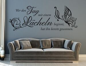 WANDTATTOO Wandaufkleber Das Glück des Lebens...Spruch Zimmer Deko  Motiv 539 XL