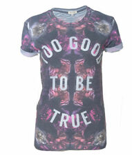Graphic Tee Floral 100% Cotton T-Shirts for Women