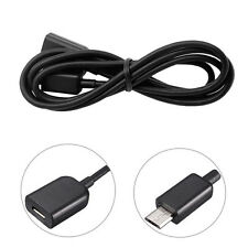 1M Micro USB Male To Female Extension Data Charger Cable Lead OTG For Samsung