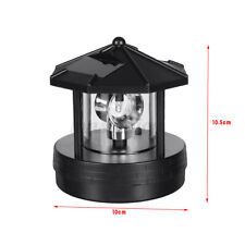 Solar LED Rotating Lighthouse Light Garden Yard Lawn Lamp Lighting Outdoor Decor