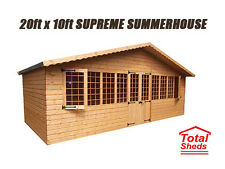 20 x 10 SUPREME SUMMER HOUSE LOG CABIN OFFICE BAR SHED TOP QUALITY GRADED TIMBER