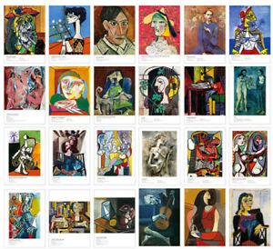 Lots 30 pcs Pablo Picasso Famous Oil Paintings Postcard Bulk Set Postcrossing