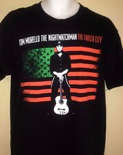 TOM MORELLO 2008 TOUR LARGE T-SHIRT RAGE AGAINST THE MACHINE OUT OF PRINT ROCK
