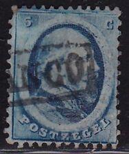 1864 Koning Willem III 5 cent blauw NVPH 4 gestempeld
