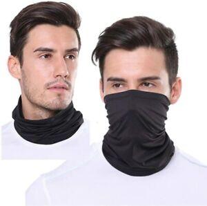 3 in 1 Snood Face Mask Neck Cover Head Band Scarf Plain Camo Bandana