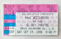 1996 PAUL WESTERBERG Concert Ticket Stub EL REY THEATRE LA THE REPLACEMENTS