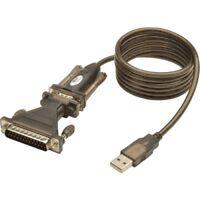 Tripp Lite U209-005-DB25 USB to RS232 Serial Adapter Cable USB-A to DB25 DB9 M/M