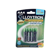 4 PILES ACCU LLOYTRON RECHARGEABLE AAA LR03 1.2V 550mAh Ni-Mh BATTERY BATTERIE