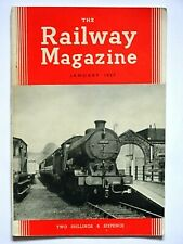 THE RAILWAY MAGAZINE - JANUARY 1957 - FROM YOUR DATE OF BIRTH ?? FN beano dandy