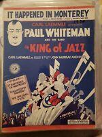 Vintage Sheet Music 1930 It Happened in Monterey Carl Laemmle Paul Whiteman Jazz