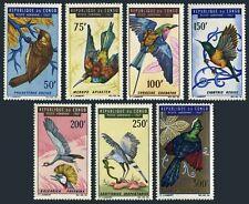 Congo PR C45-C51,hinged.Mi 116-122. Birds 1967.Weaver,Bee-eater,Roller,Cranes